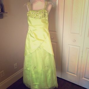 Lime gown for girls!